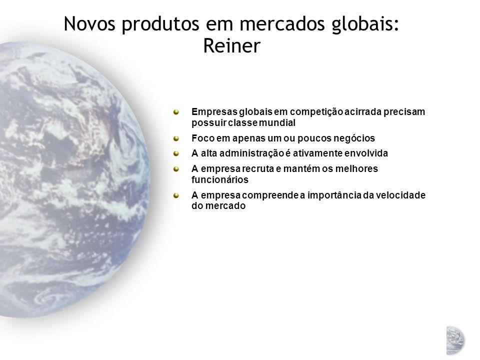Novos produtos em marketing global Processo de desenvolvimento de novo produto Identificação permanente de novas idéias para o produto Triagem dessas