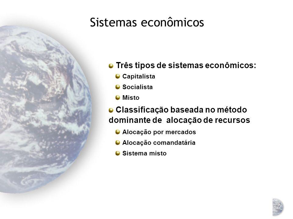 A economia mundial: uma visão geral Durante os últimos 50 anos Emergência de mercados globais Integração da economia mundial Movimentos de capitais sã