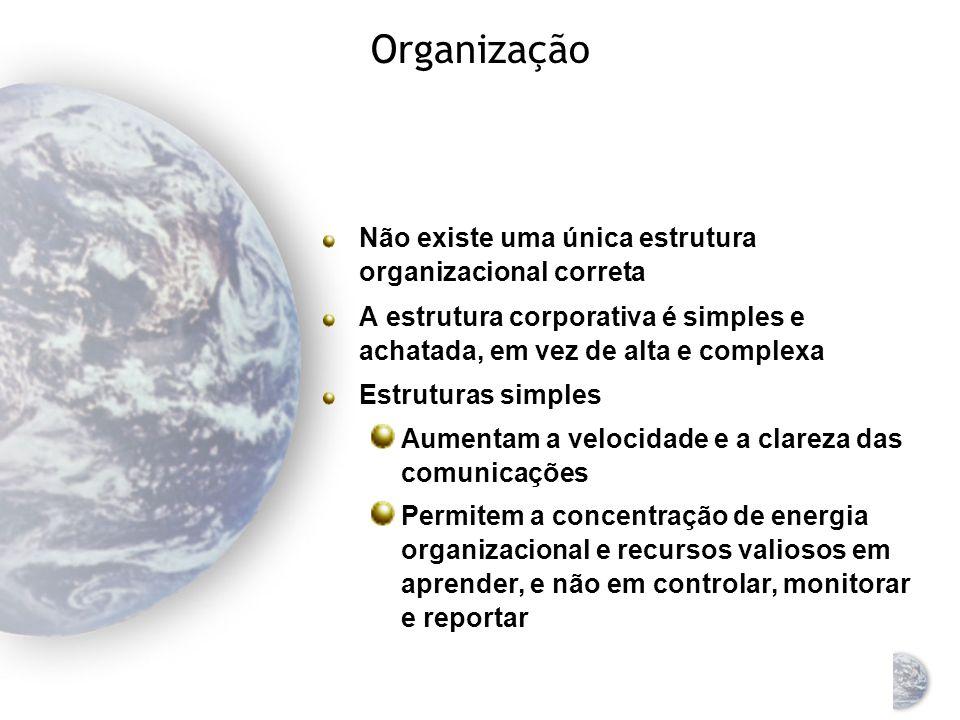 Organização A meta ao organizar para o marketing global é encontrar uma estrutura que capacite a empresa a responder a diferenças relevantes de ambiente de mercado Equilíbrio entre o valor do conhecimento e coordenação centralizados necessidade de resposta individualizada para a situação local