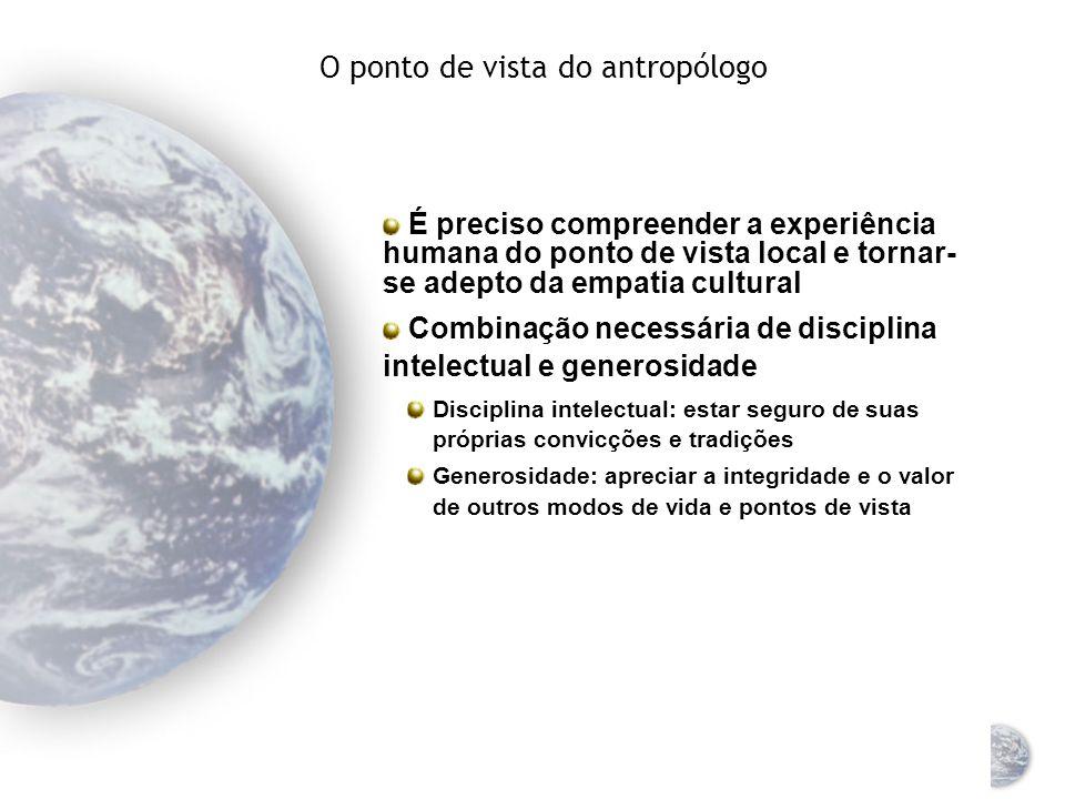 A busca das universalidades culturais Universalidade = comportamento existente em todas as culturas Aspectos da universalidade = oportunidades de padr