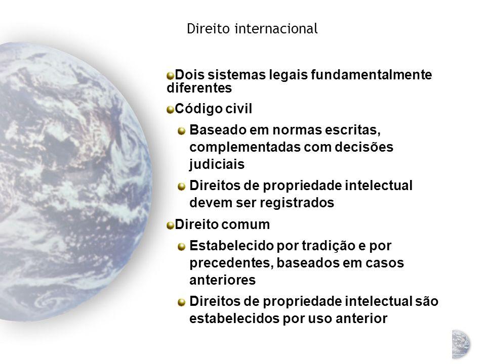 Direito internacional Direito internacional = as regras e os princípios que os estados-nações consideram obrigatórios para si mesmos Duas categorias Lei pública ou lei das nações Direito comercial internacional Reduzir as incertezas legais, atender às empresas internacionais no fornecimento de diretrizes Tribunal Internacional de Justiça, das Nações Unidas