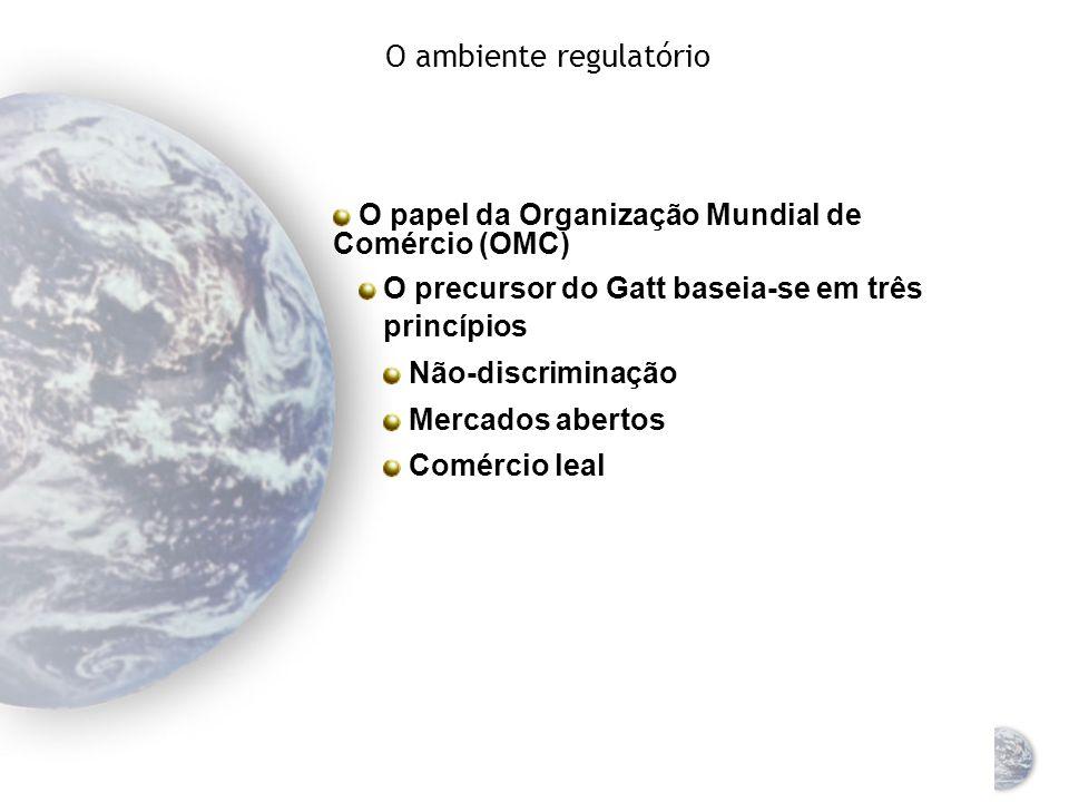 O ambiente regulatório Consiste em uma variedade de órgãos que fazem cumprir leis ou estabelecer diretrizes para a condução dos negócios O Papel da Un