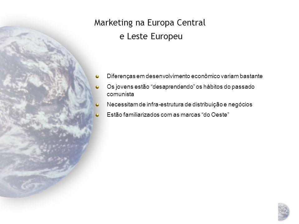 Europa Central e Leste Europeu antes e depois da economia de mercado Antes Depois % PIB mundial 6,9% 2,5% renda per capita $ 3.665 $ 2.219