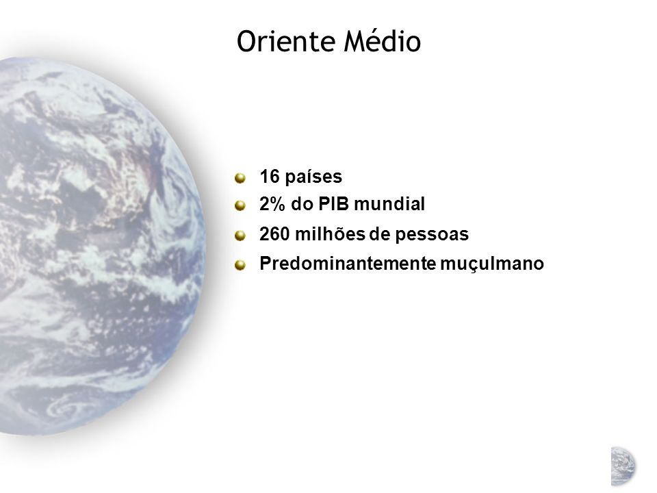 América Latina Consiste em: América do Sul, América Central e Caribe Economicamente, o México faz parte da América do Norte 7% da receita global 510 milhões de pessoas 9,5% da população mundial