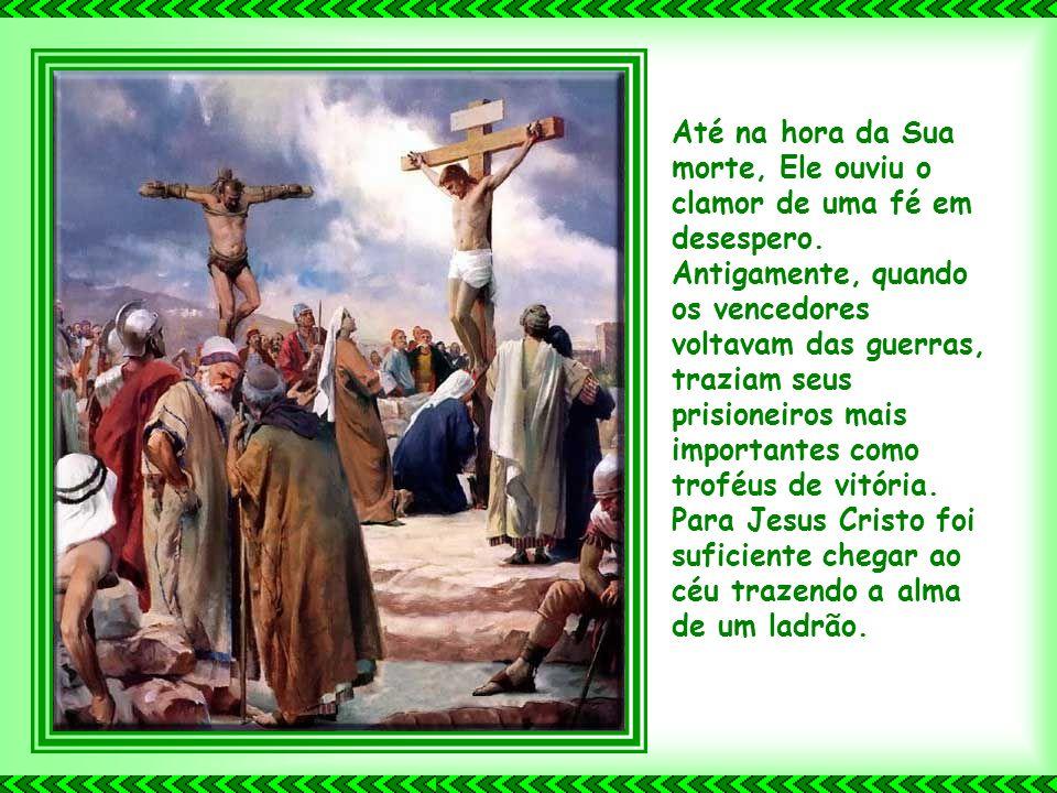 Jesus Cristo também possui perfeita mansidão. Como Ele é meigo, mas também fiel, altruísta e devotado. Quando falou com a mulher calada, desesperada,