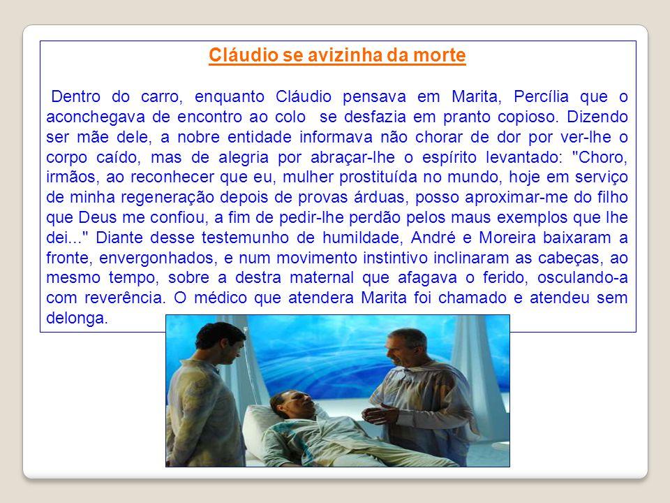 Cláudio sorriu e compreendeu. Estava tudo muito claro. Ao proteger Marina, salvando a filha e a neta, dera a própria vida, tal como pedira. Nas preces