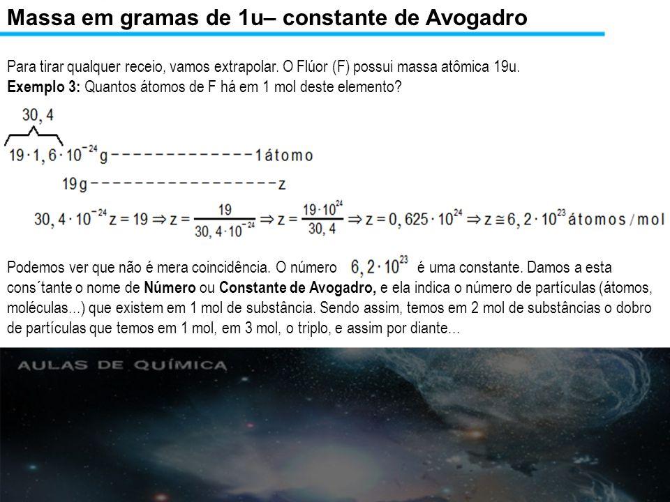 Decorrências da constante de avogadro Exemplo 1: Quantos íons H + temos em 1 mol de H 2 SO 4 aquoso.