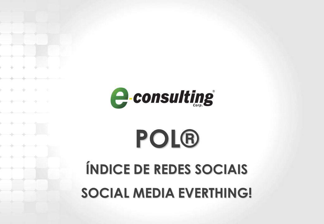 1 POL® ÍNDICE DE REDES SOCIAIS SOCIAL MEDIA EVERTHING!