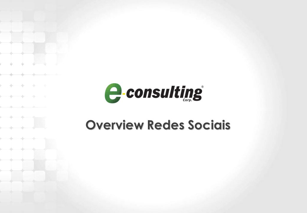5 Overview Redes Sociais