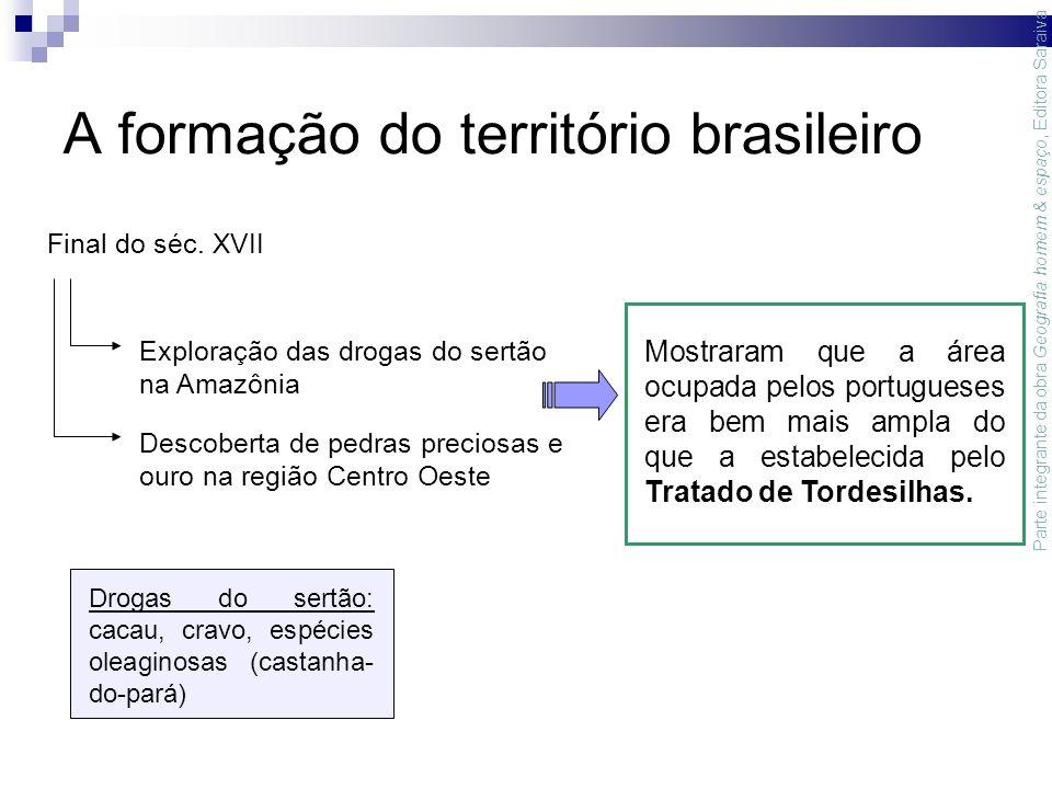 A formação do território brasileiro Final do séc.