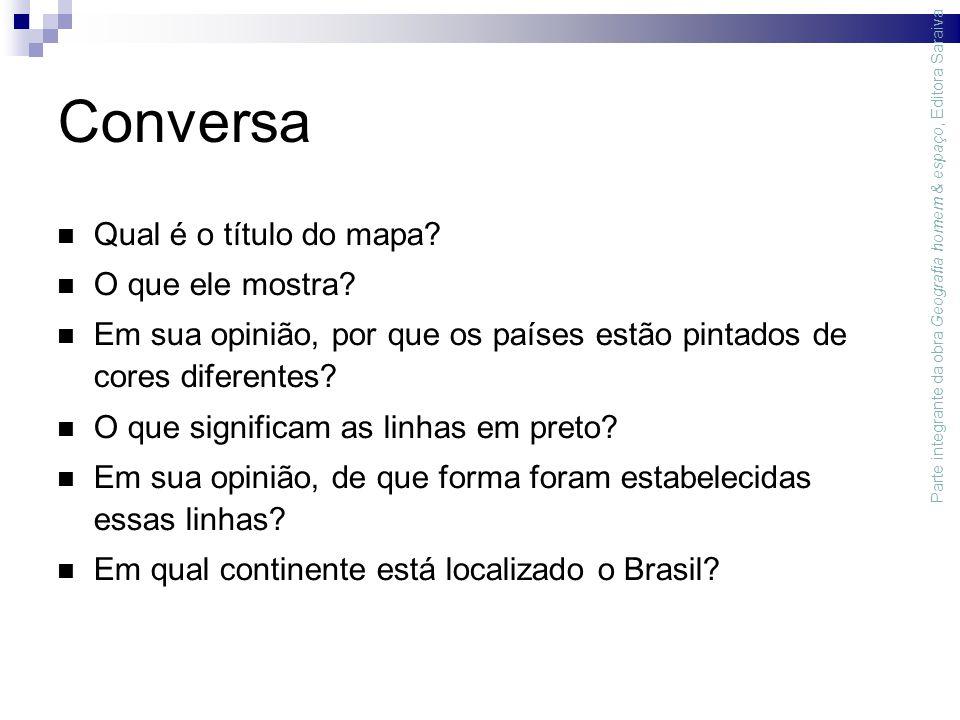 Conversa Qual é o título do mapa. O que ele mostra.