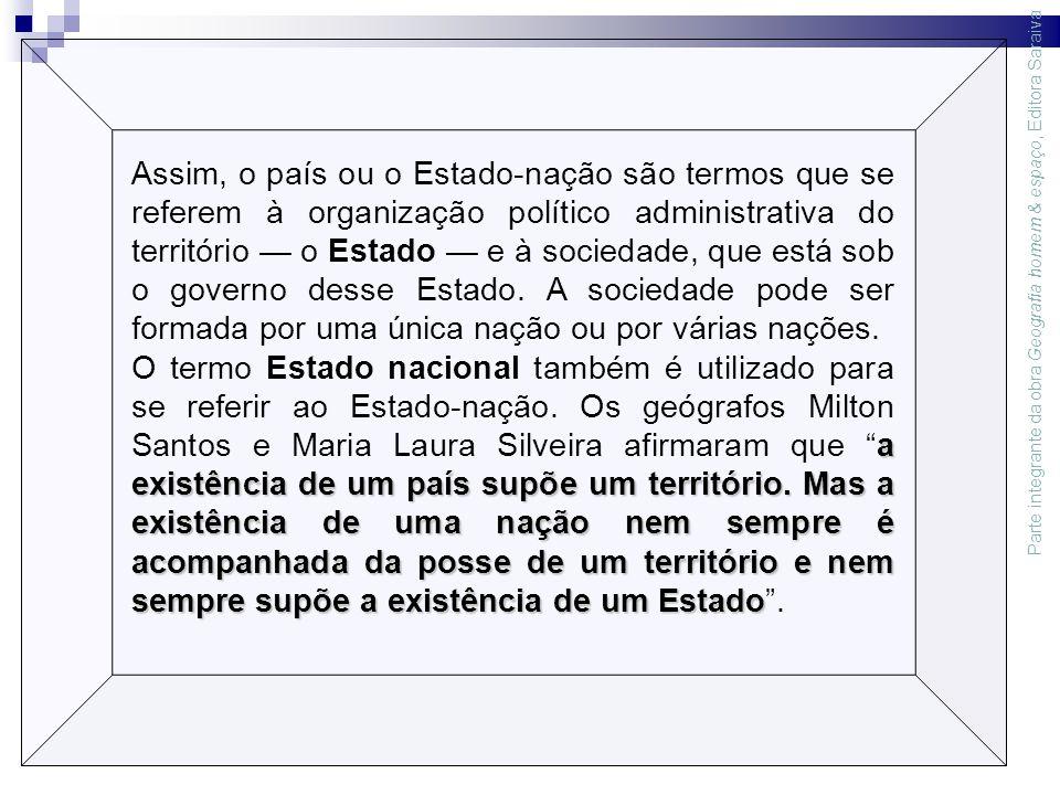 Parte integrante da obra Geografia homem & espaço, Editora Saraiva Carlos Tadeu de Carvalho Gamba Fonte: Hervé Théry e Neli Aparecida de Mello.
