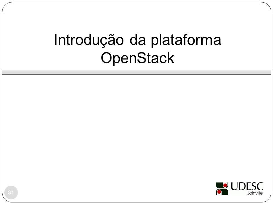 Introdução da plataforma OpenStack 31