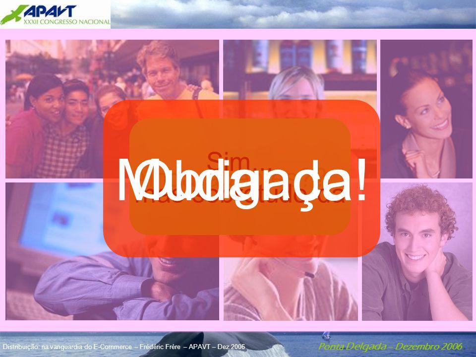 Ponta Delgada – Dezembro 2006 Distribuição: na vanguardia do E-Commerce – Frédéric Frère – APAVT – Dez.2006 Ainda agentes??... Sim... mas sobretudo da