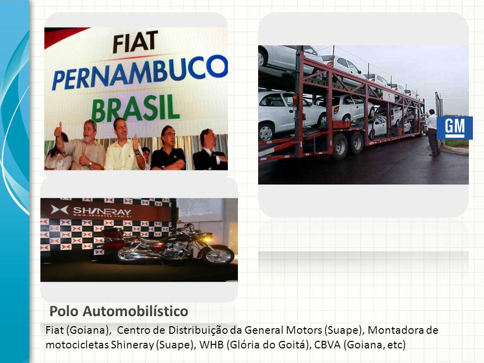 Polo Automobilístico Fiat (Goiana), Centro de Distribuição da General Motors (Suape), Montadora de motocicletas Shineray (Suape), WHB (Glória do Goitá