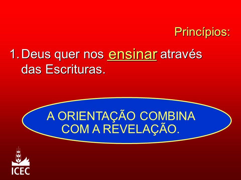 Princípios: 1.Deus quer nos _______ através das Escrituras.