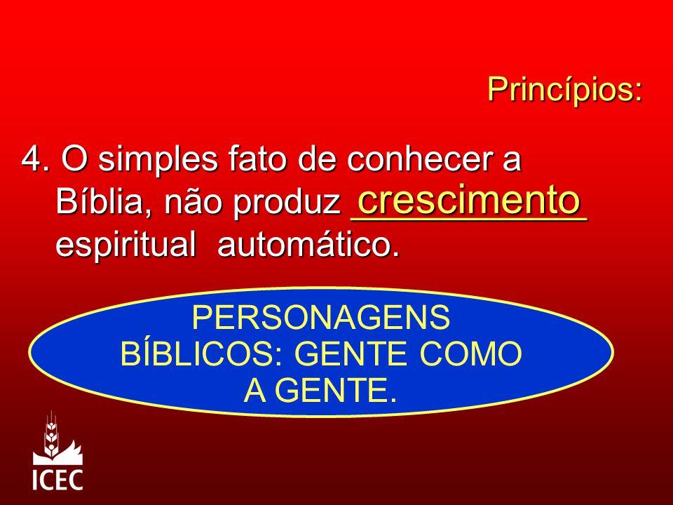 Princípios: 4.O simples fato de conhecer a Bíblia, não produz ____________ espiritual automático.