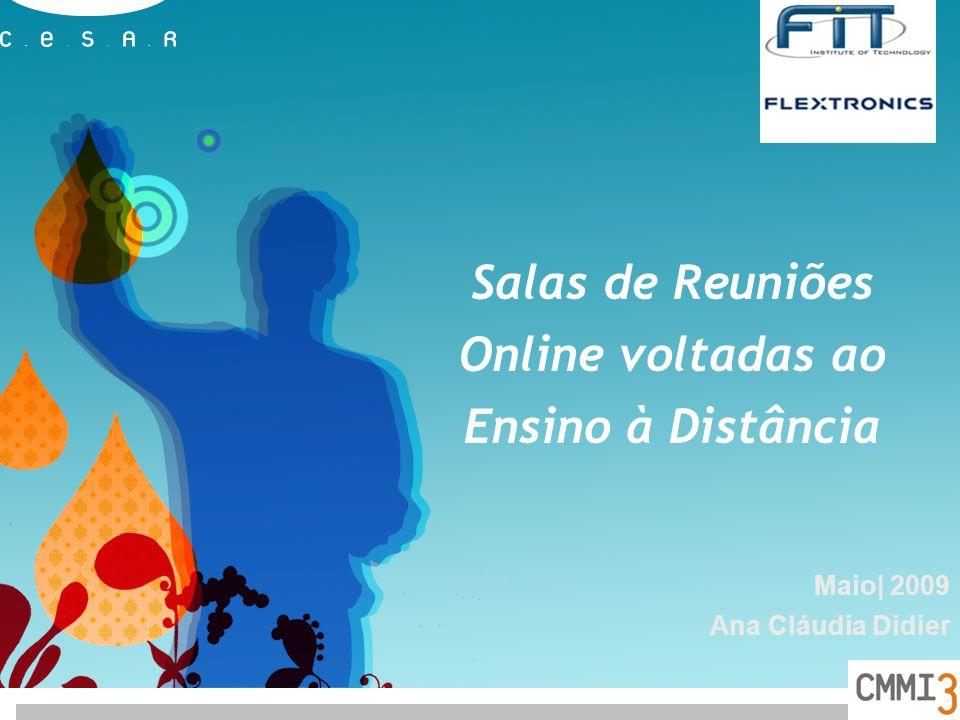 Salas de Reuniões Online voltadas ao Ensino à Distância Maio| 2009 Ana Cláudia Didier