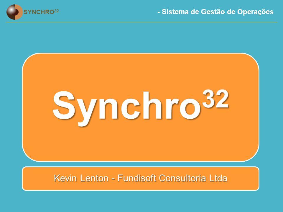 - Sistema de Gestão de Operações SYNCHRO 32 Registro de Trabalho em Curso (WIP) A principal função do SFDC é o Registro de Trabalho em Curso e Refugo.
