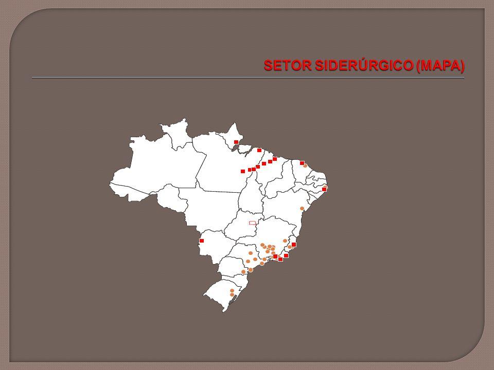  Projetos do primeiro ciclo Aço Villares – Pindamonhangaba (SP) e Mogi das Cruzes (SP) ArcelorMittal – Vitória (ES), São Francisco do Sul (SC), Cariacica (ES), São Paulo (SP), Piracicaba (SP), Sabará (MG), Itaúna (MG), Monlevade (MG), Juiz de Fora (MG) CSN – Volta Redonda (RJ) Gerdau – Sapucaia do Sul (RS), Charqueadas (RS), Araucária (PR), Araçariguama (SP), Rio de Janeiro (RJ), Ouro Branco (MG), Divinópolis (MG), Barão de Cocais (MG), Simões Filho (BA), Recife (PE), Maracanaú (CE) Usiminas – Cubatão (SP), Ipatinga (MG) V&M – Belo Horizonte (MG) Votorantim – Barra Mansa (RJ)