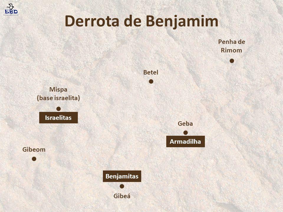 Os homens de Israel tinham feito este juramento em Mispá: Nenhum de nós dará sua filha em casamento a um benjamita .