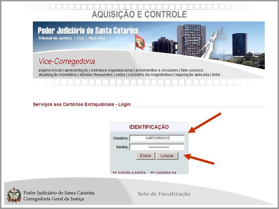 Selo de Fiscalização AQUISIÇÃO E CONTROLE
