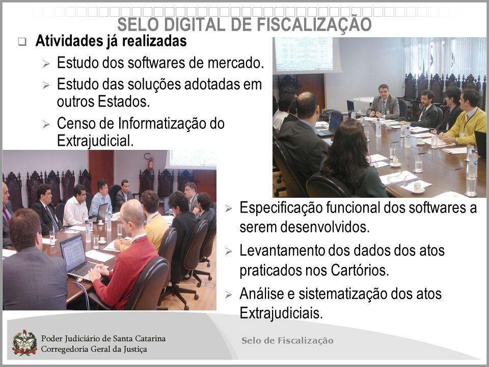 Selo de Fiscalização  Atividades já realizadas  Estudo dos softwares de mercado.