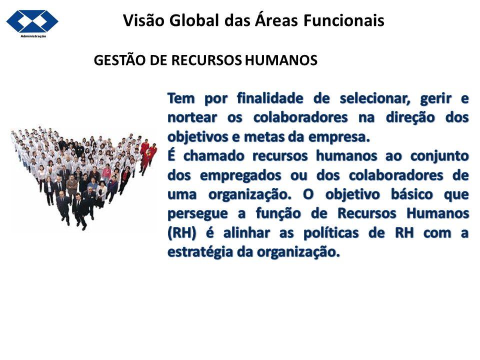 Visão Global das Áreas Funcionais GESTÃO DE RECURSOS HUMANOS