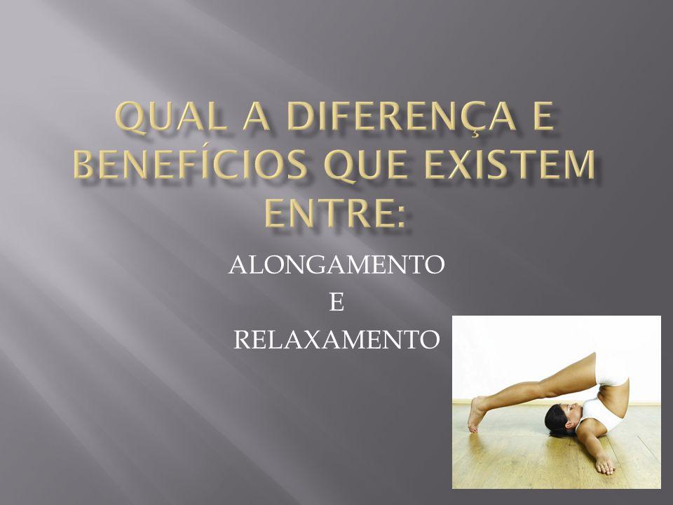  Alongamento é o estiramento muscular que possibilita um manejo facilitado no exercício evitando lesões.