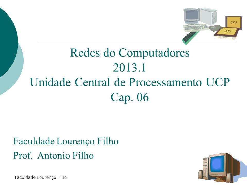 Faculdade Lourenço Filho Redes do Computadores 2013.1 Unidade Central de Processamento UCP Cap. 06 Faculdade Lourenço Filho Prof. Antonio Filho