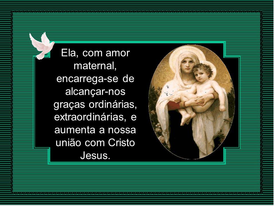 Virgem, cumpre a sua missão de Mãe dos homens intercedendo continuamente junto de seu Filho, Jesus!