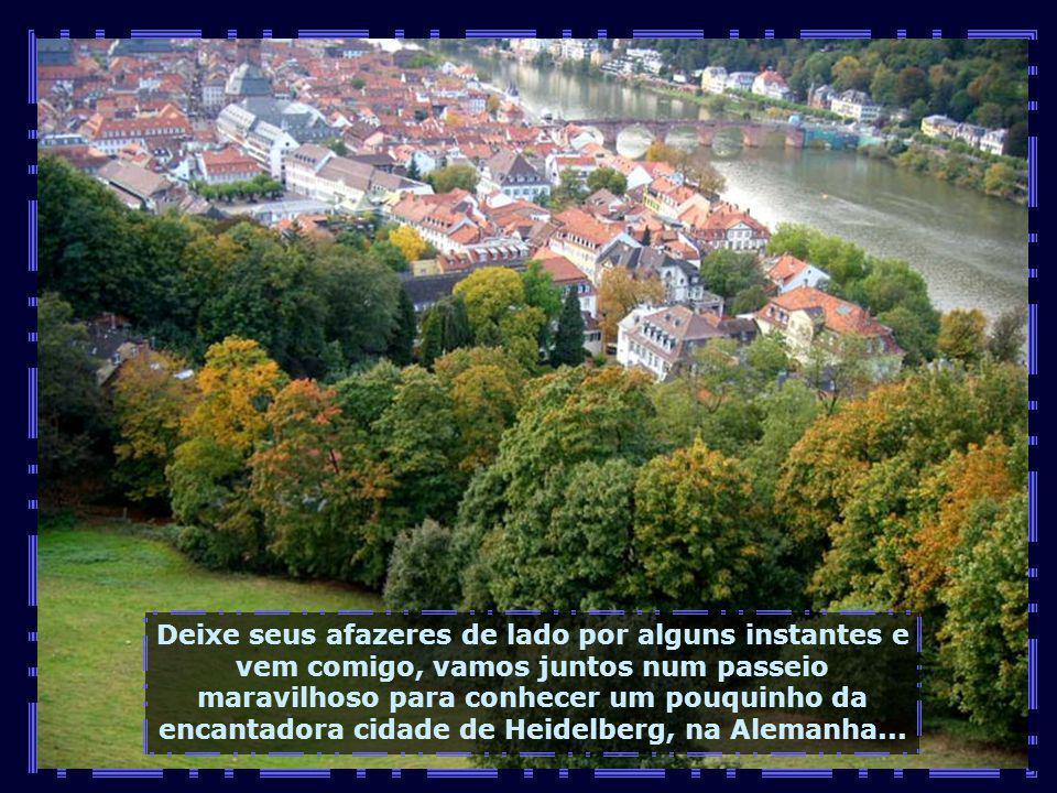 Deixe seus afazeres de lado por alguns instantes e vem comigo, vamos juntos num passeio maravilhoso para conhecer um pouquinho da encantadora cidade de Heidelberg, na Alemanha...