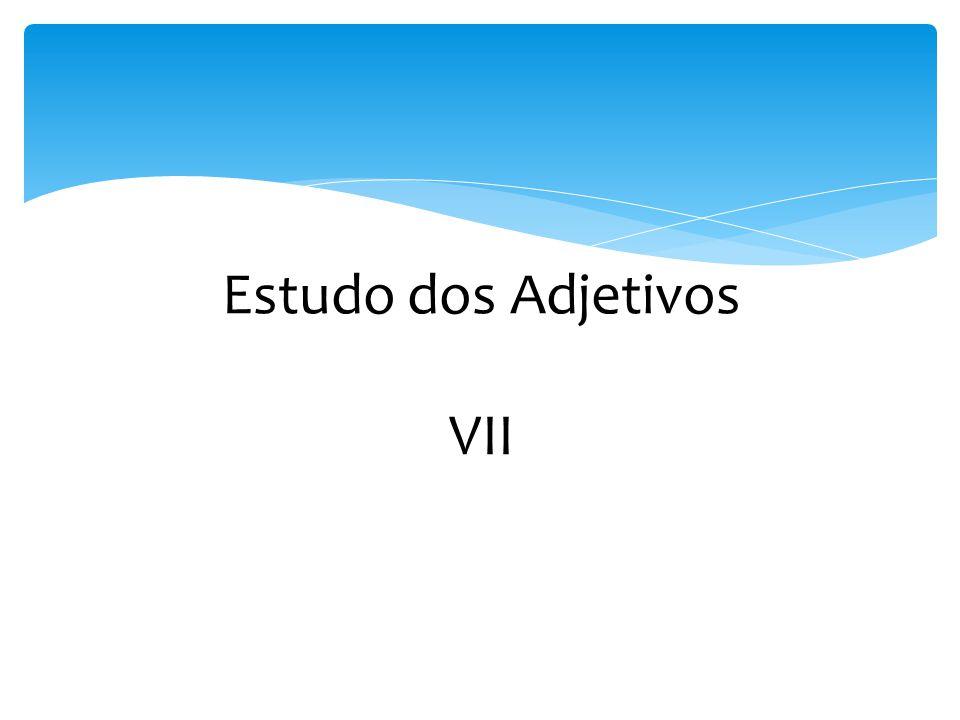 Estudo dos Adjetivos VII