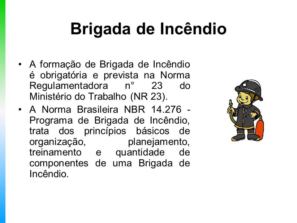 Brigada de Incêndio A formação de Brigada de Incêndio é obrigatória e prevista na Norma Regulamentadora n° 23 do Ministério do Trabalho (NR 23). A Nor