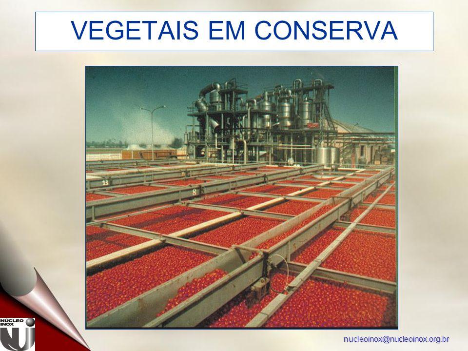 nucleoinox@nucleoinox.org.br VEGETAIS EM CONSERVA