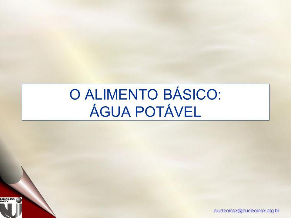nucleoinox@nucleoinox.org.br O ALIMENTO BÁSICO: ÁGUA POTÁVEL