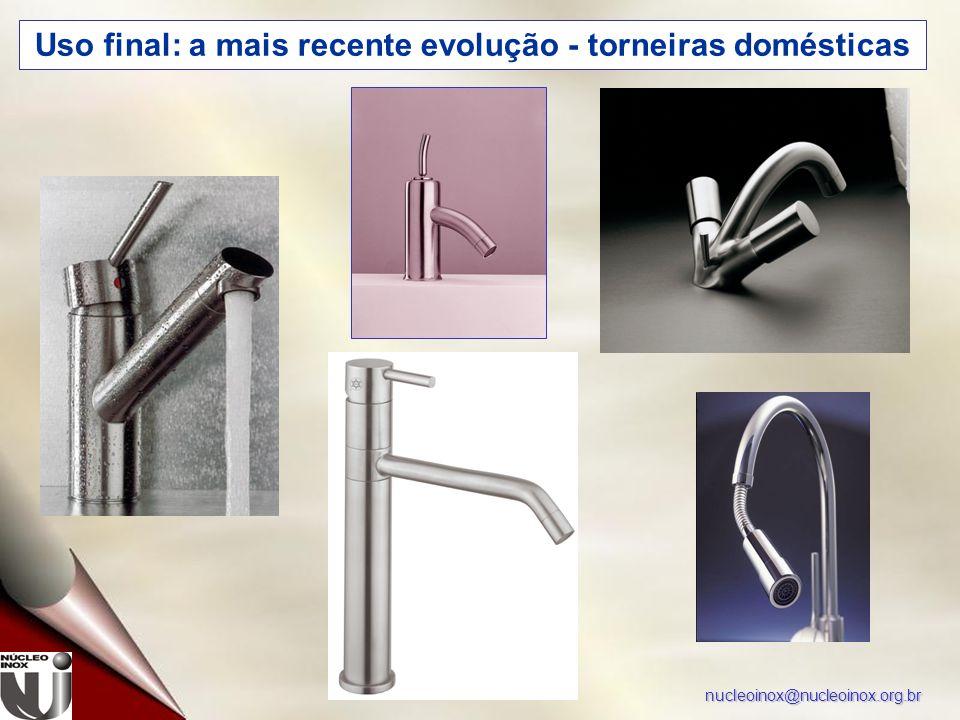 nucleoinox@nucleoinox.org.br Uso final: a mais recente evolução - torneiras domésticas