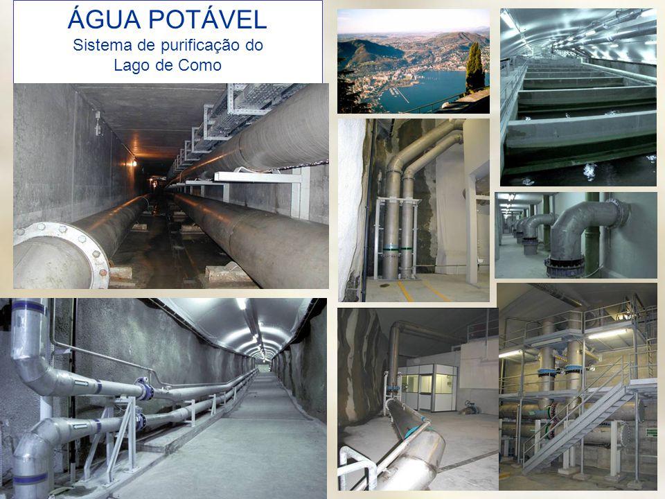 nucleoinox@nucleoinox.org.br ÁGUA POTÁVEL Sistema de purificação do Lago de Como
