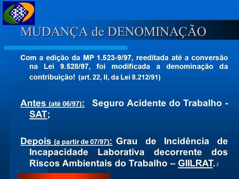 RISCOS OCUPACIONAIS / PPP / MP 83 MINISTÉRIO DA PREVIDÊNCIA E ASSISTÊNCIA SOCIAL INSTITUTO NACIONAL DO SEGURO SOCIAL