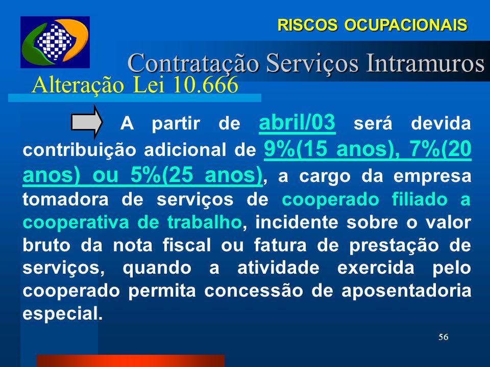 55 A partir de abril/03 as disposições legais sobre aposentadoria especial do segurado filiado ao Regime Geral de Previdência Social aplicam-se, també