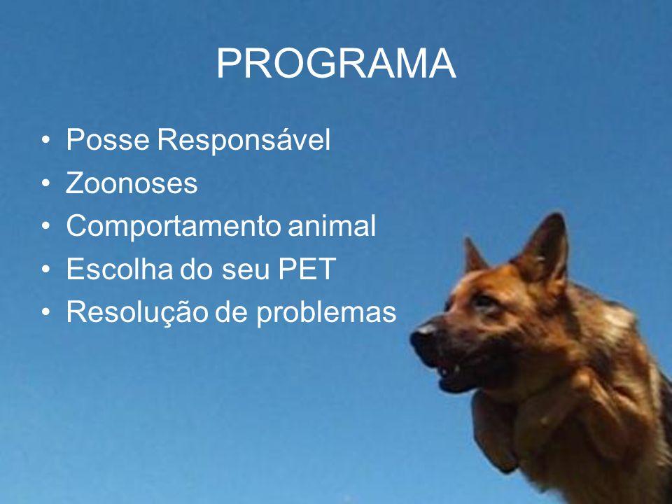 POSSE RESPONSÁVEL Conduz seu animal de estimação de forma que este não traga problemas ao próprio e muito menos à sociedade.