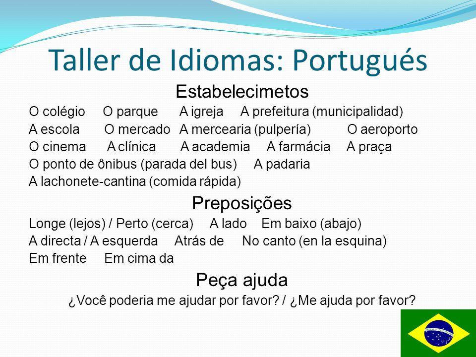 Taller de Idiomas: Portugués Converça pelo telefone - Oi bom dia, preciso falar com o João, você poderia me comunicar por favor.