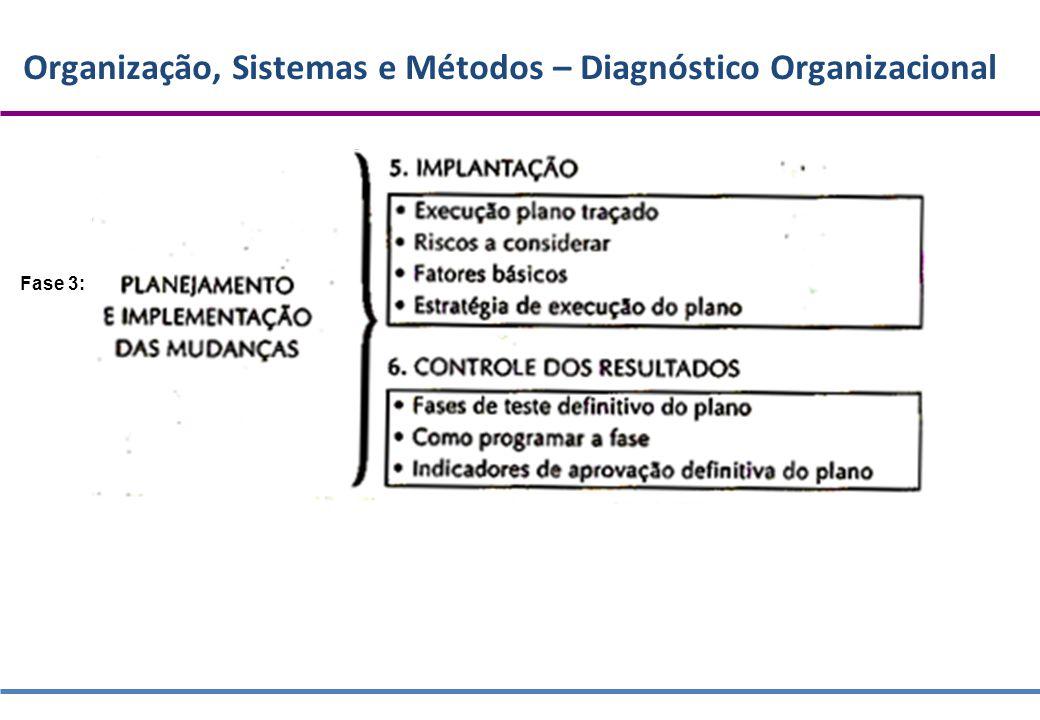 Organização, Sistemas e Métodos – Diagnóstico Organizacional Fase 3: