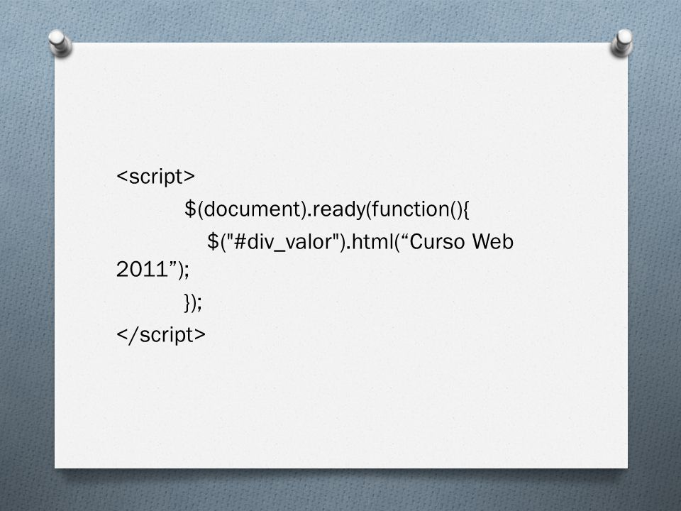 $(document).ready(function(){ $(