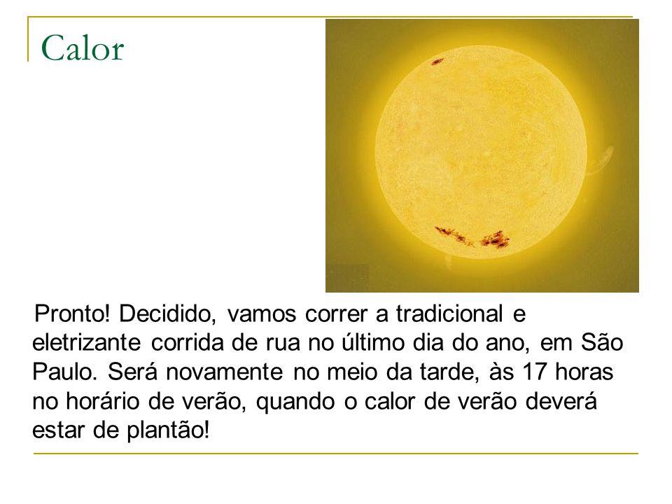 Calor Pronto! Decidido, vamos correr a tradicional e eletrizante corrida de rua no último dia do ano, em São Paulo. Será novamente no meio da tarde, à