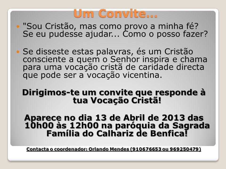 Um Convite…
