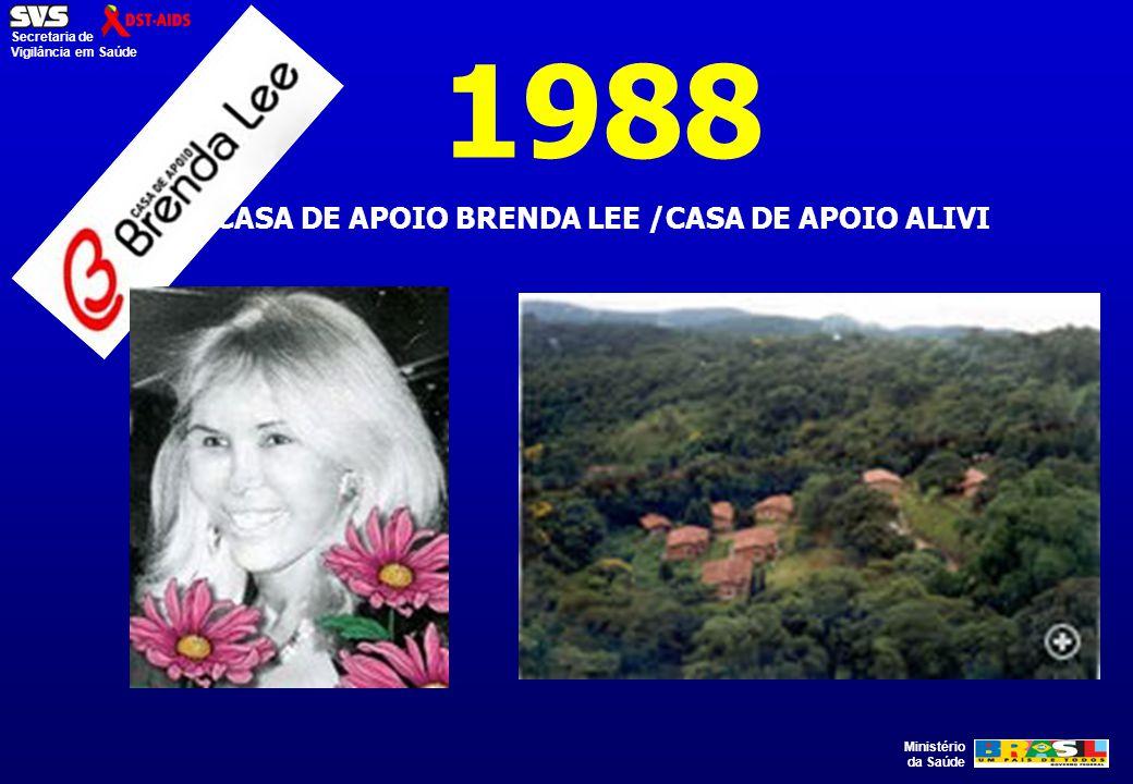 Ministério da Saúde Secretaria de Vigilância em Saúde 1988 CASA DE APOIO BRENDA LEE /CASA DE APOIO ALIVI