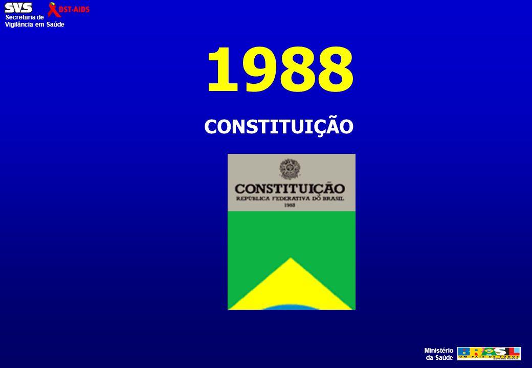 Ministério da Saúde Secretaria de Vigilância em Saúde 1988 CONSTITUIÇÃO