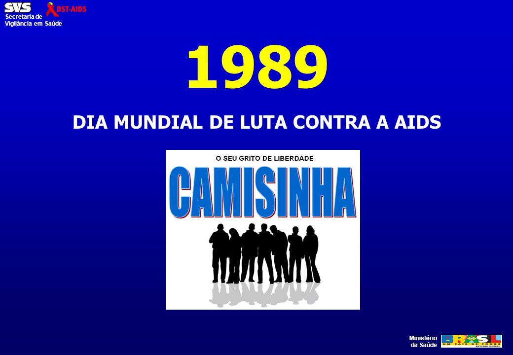 Ministério da Saúde Secretaria de Vigilância em Saúde 1989 DIA MUNDIAL DE LUTA CONTRA A AIDS