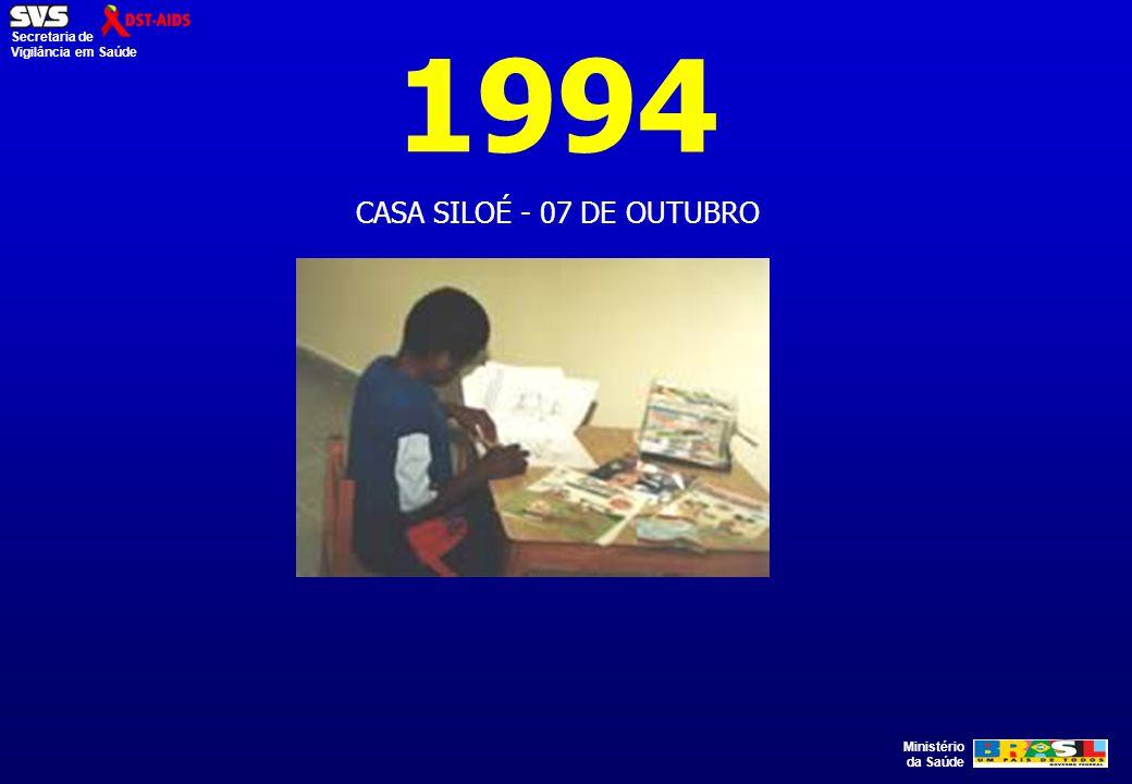 Ministério da Saúde Secretaria de Vigilância em Saúde 1994 CASA SILOÉ - 07 DE OUTUBRO